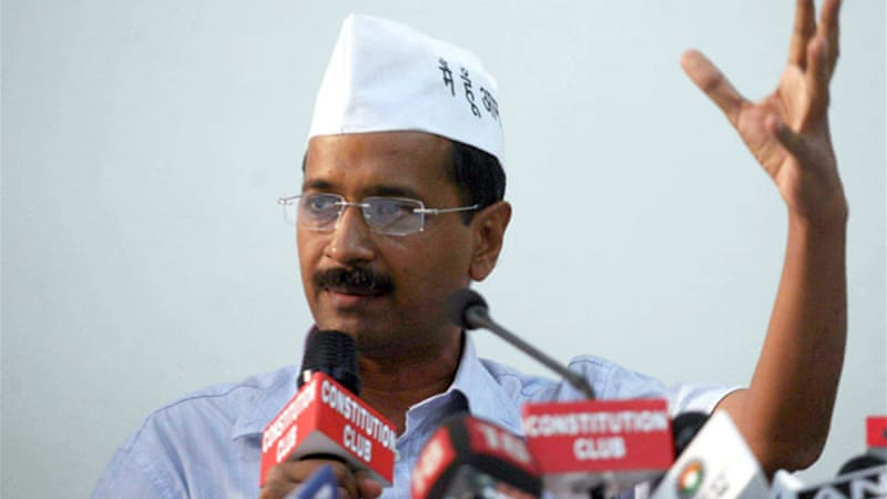 Delhi Chief Minister Arvind Kejriwal had made his poll plank to provide honesty and transparency in public offices [EPA]