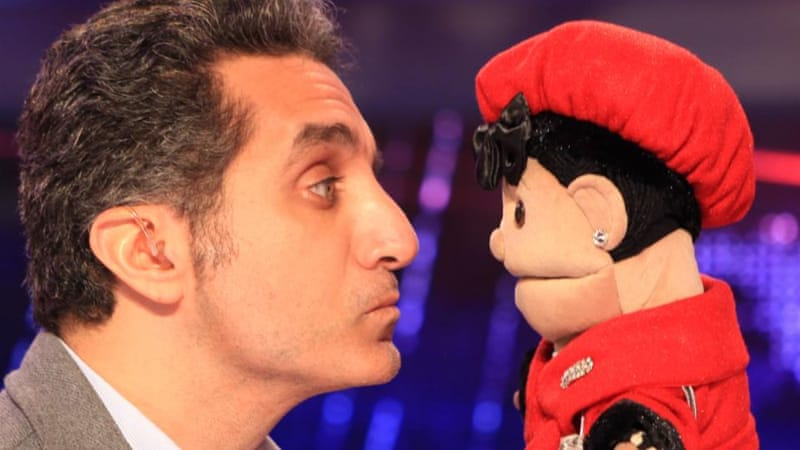 Abla Fahita , whose creator remains unknown, appeared as a guest on satirist Bassem Youssef's show [Facebook]