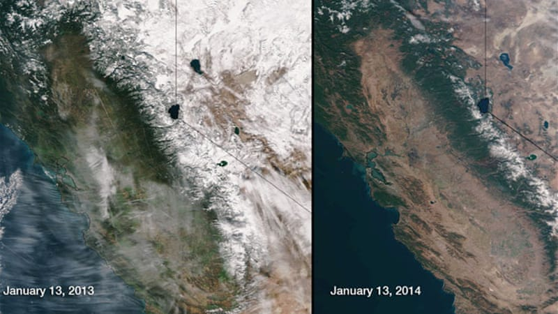 Snow cover is 80% down on that of 2012  [Nasa]