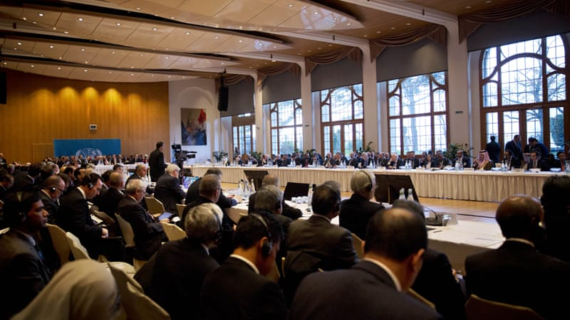 About 40 nations and international bodies gathered on Wednesday in Montreux, Switzerland [AP]
