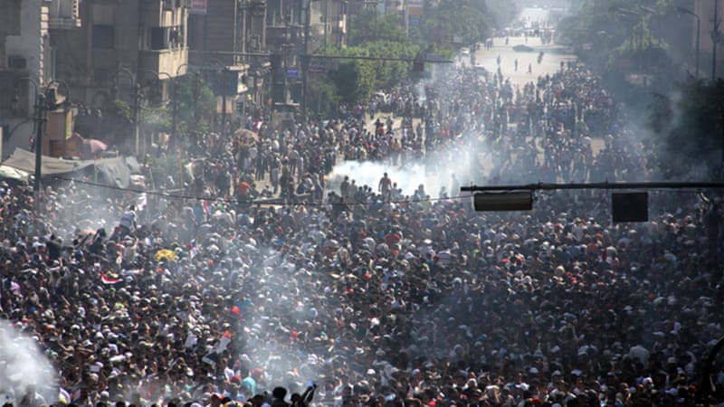 The Muslim Brotherhood has held non-stop protests demanding Morsi's reinstatement as president [EPA]