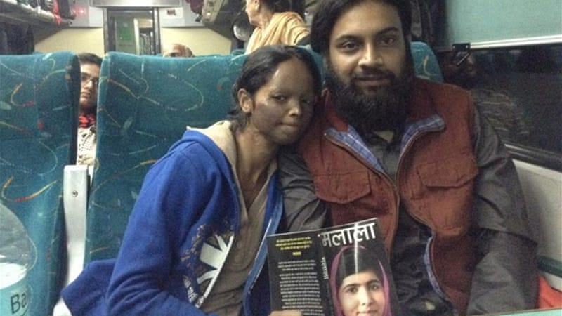Laxmi, left, was just 15 when a man threw acid on her in 2004.