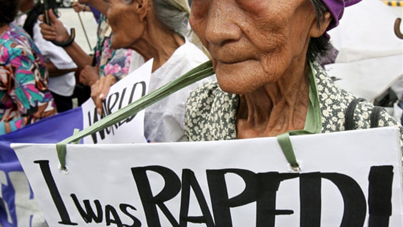 Historians say up to 200,000 women were forced into sex slavery [AP]