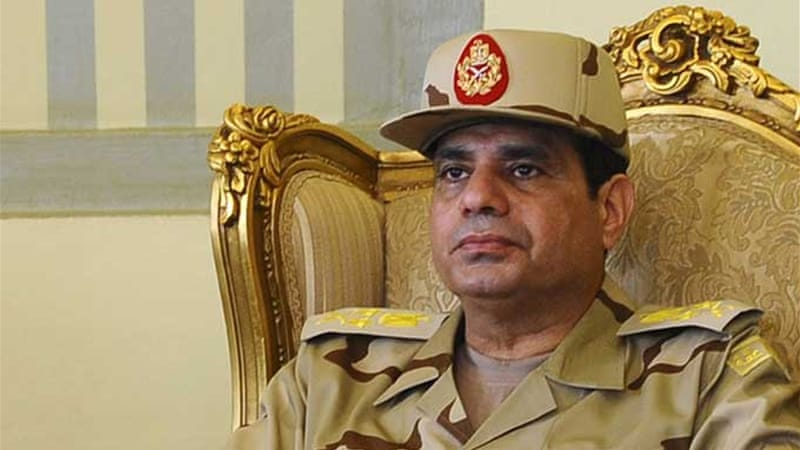 Sisi was promoted to the rank of field marshal in January, fuelling speculation he was to run for president [Reuters]