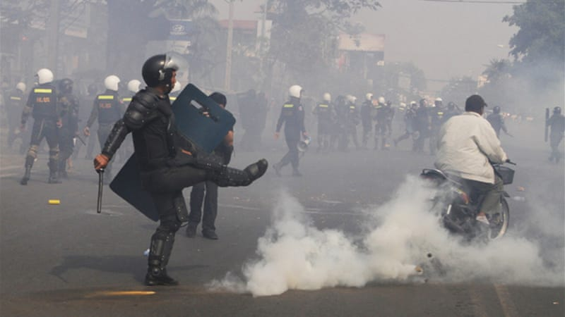 Cambodia imposed an indefinite ban on demonstrations in Phnom Penh after a wave of protests in early January [AP]