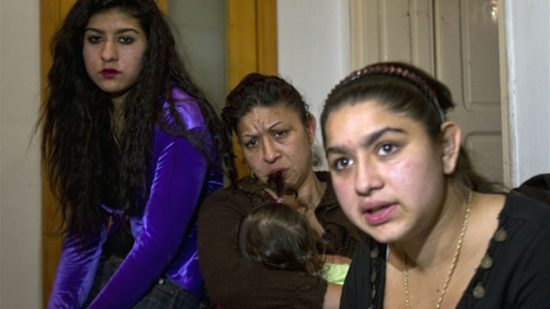 Leonarda Dibrani, right, and her family say they cannot see a future for themselves in Kosovo [AP]