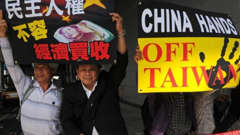 China considers Taiwan a renegade province and has never ruled out using force against the island  [AFP]