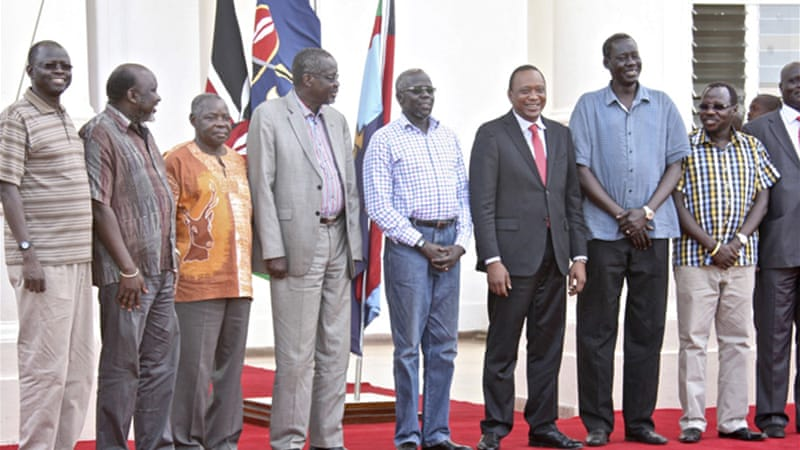 South Sudan freed seven of the detainees on Wednesday and handed them over to neighbouring Kenya [AP]