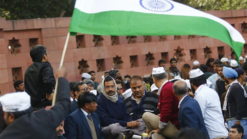 The Aam Admi Party has announced it would field candidates in at least 300 seats [Reuters]