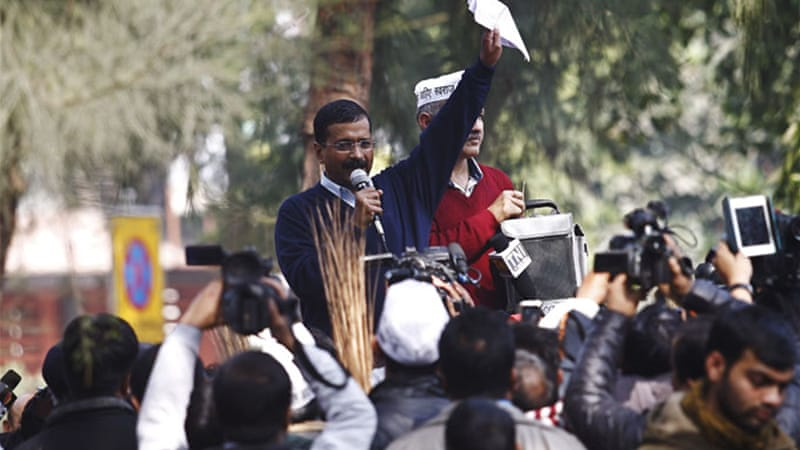 Arvind Kejriwal is on a four-day tour of Gujarat [File: Reuters]