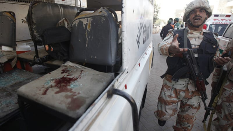 Paramilitary Rangers were the targets of the latest attacks on Karachi [Reuters]
