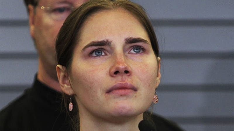 Knox was not in court when Italian judges sentenced her and her ex-boyfriend in the retrial in Florence [Reuters]