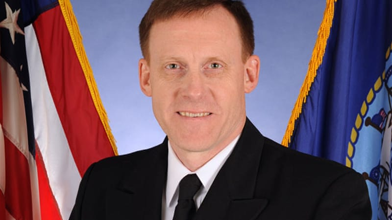 Vice Admiral Michael S. Rogers was trained as a intelligence cryptologist [US Navy/File]