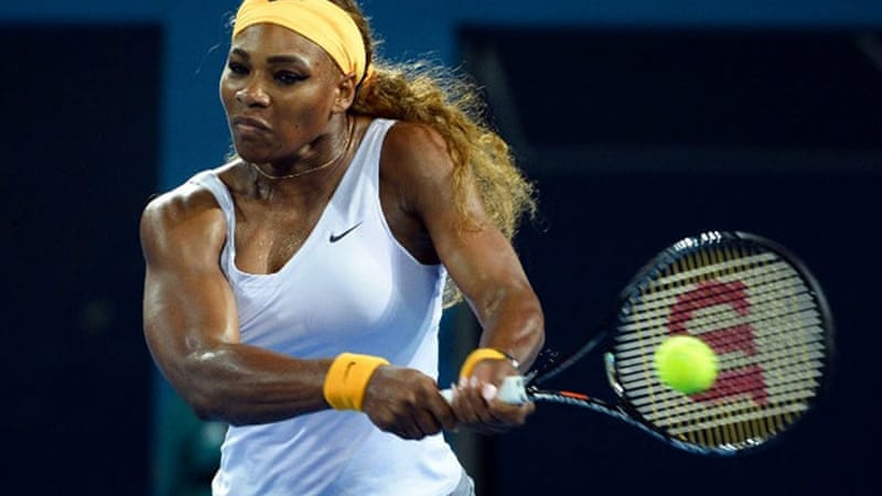 Serena Williams fired an unreturnable serve to finish it off  the final against Victoria Azarenka [AFP]