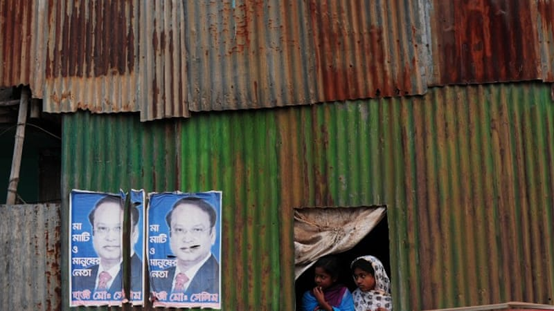 "The opposition and its allies are boycotting the vote accusing prime minister Hasina of ""killing democracy"". [AFP]"
