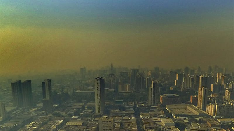 The air quality in Santiago is said to be the worst pollution the city had dealt with for a number of years. [EPA]
