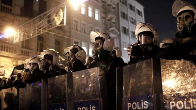 Monday's raids targeted mostly police intelligence officers  in 13 Turkish cities, state media said [EPA]