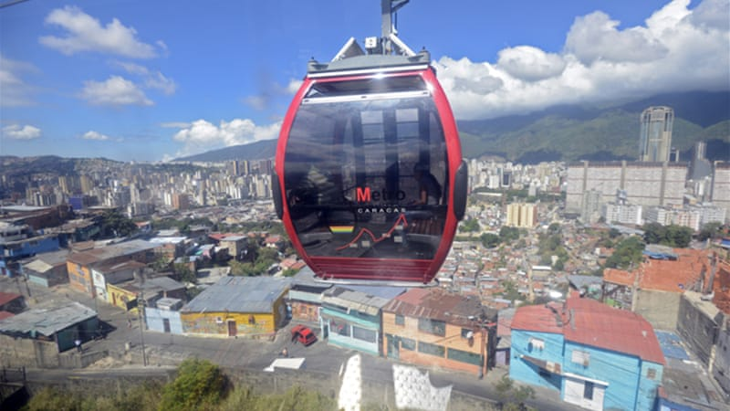 In Caracas, Venezuela, the architecture practice Urban-Think Tank lobbied the Chavez government into building a cable car up to the hillside barrio of San Agustin [AFP/Getty Images]