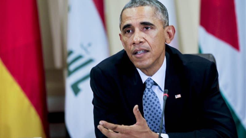 Obama said Americans troops 'will not do the fighting' against ISIL [EPA]