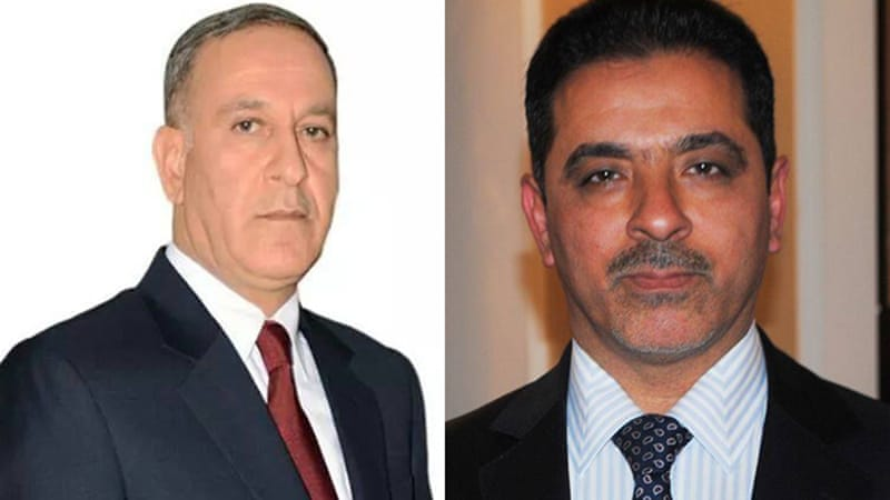 Khaled al-Obeidi (left) is a Sunni from Mosul while Mohammed al-Ghabban (right) is a Shia
