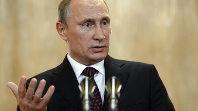 "Putin said terms had been agreed for Russia to supply natural gas ""at least for the winter period"" [Reuters]"