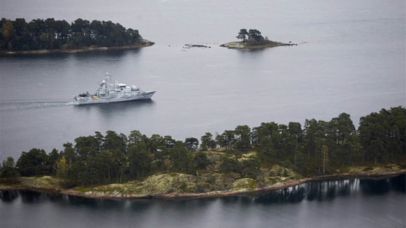 "Sweden's top commander has said he was ready to use ""armed force"" to bring the vessel to surface [Reuters]"