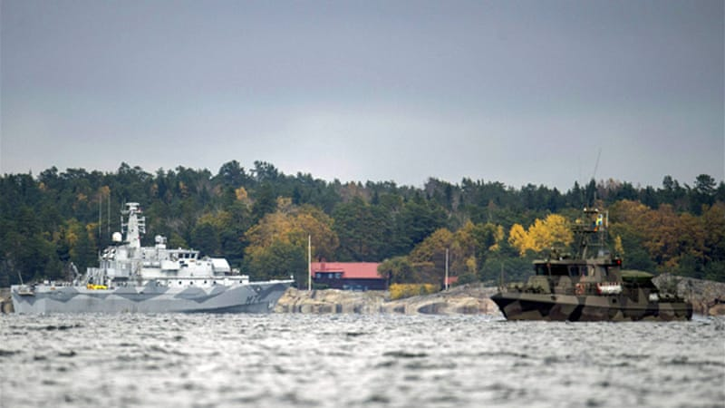 Sweden launched the search operation last week after 'foreign underwater activity' was reported [Reuters]