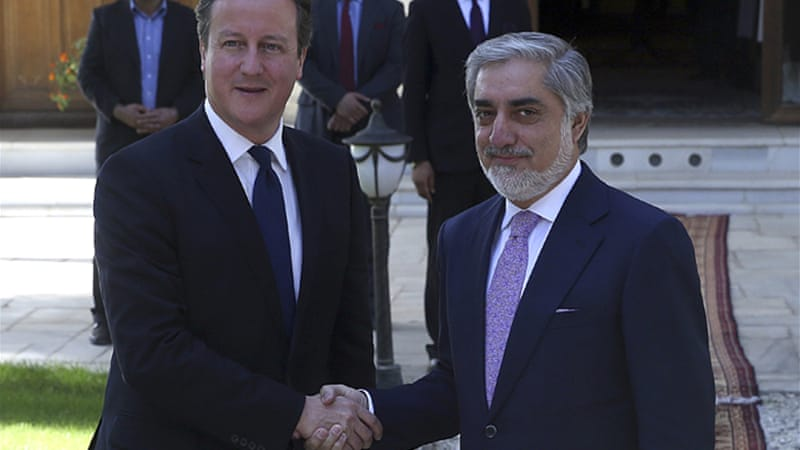 Cameron held a joint press conference with Ashraf Ghani on Friday [Reuters]