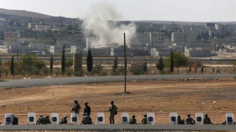 ISIL fighters have been trying for nearly three weeks to seize Kobane [AP]