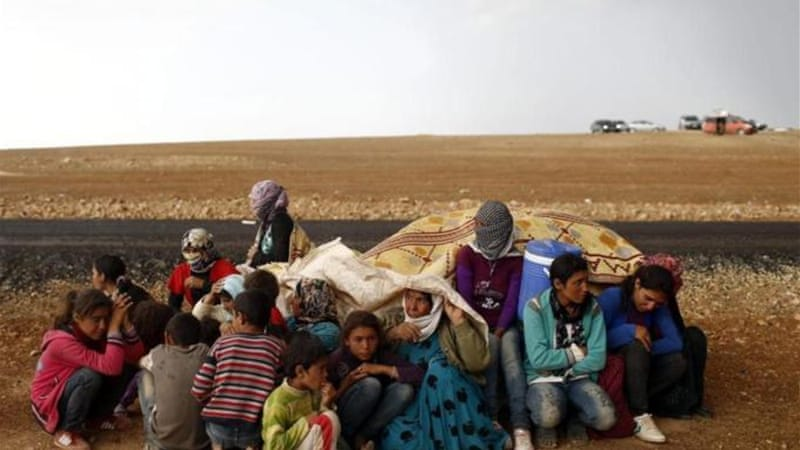 In addition to the refugees who fled Syria, the UN says more than seven million Syrians are internally displaced [EPA]