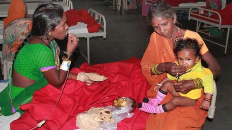 At least 13 women died and other are still being treated in Chhattisgarh state after undergoing operations [EPA]