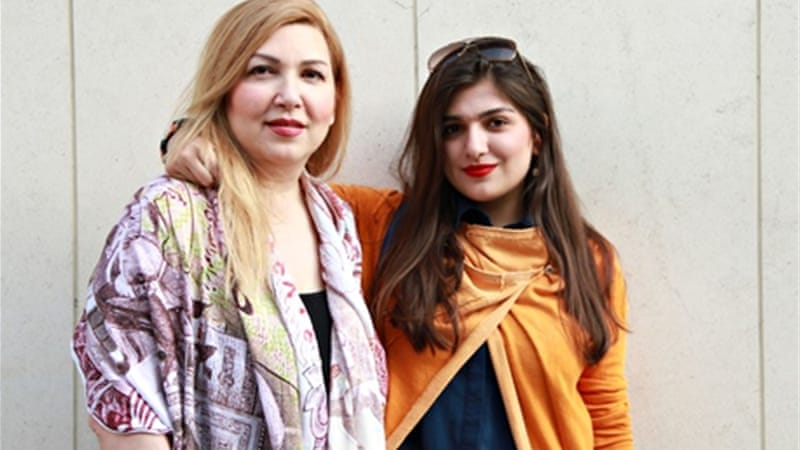 Iranian officials have said that Ghavami, right, was detained for security reasons unrelated to the match [AP]