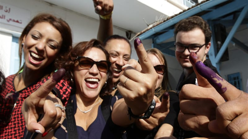 Though voter turnout in the legislative elections was high, just 29 percent of Tunisian youth cast a ballot [Reuters]