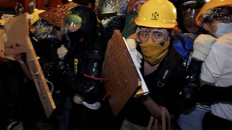 Pro-democracy protesters have been camped out on Hong Kong's streets for almost two months [Reuters]