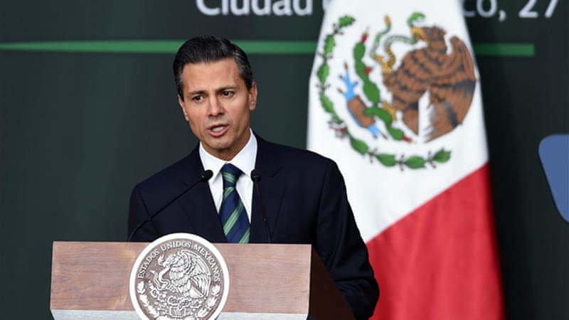 President Enrique Pena Nieto has been under pressure to address the country's new wave of drug violence [AFP]