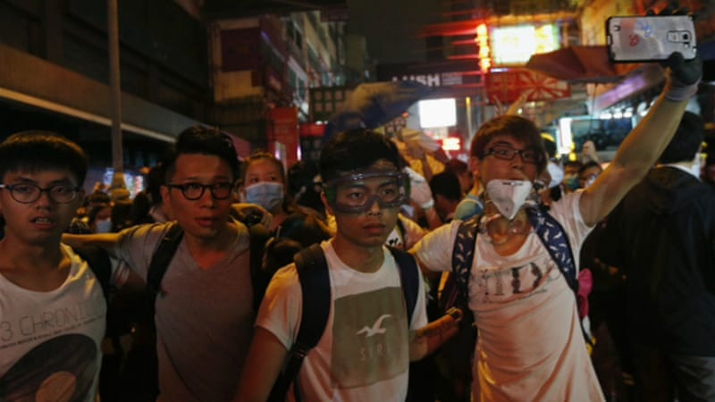 Hong Kong protesters have occupied key areas in Hong Kong for more than a month calling for full democracy [Reuters]