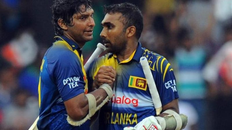 Sangakkara's partnership with Mahela Jayawardene put Sri Lanka into a strong position [AFP]