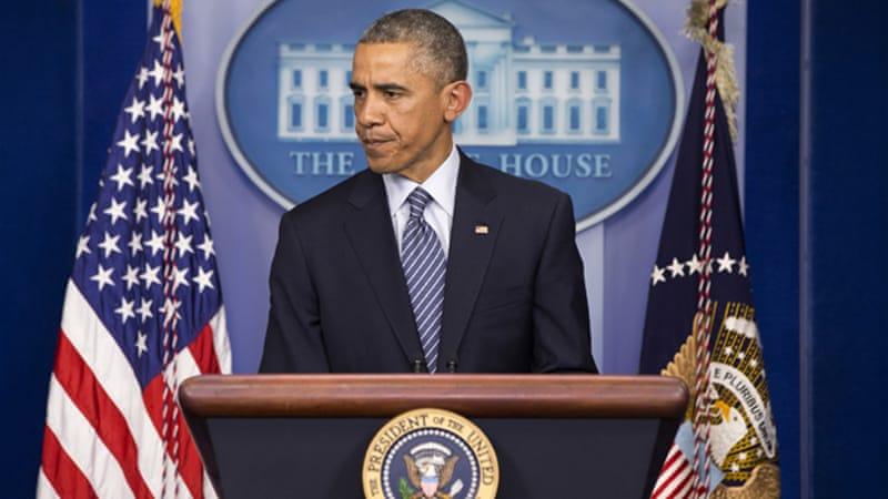 Obama has so far resisted sending arms to Ukraine, so it is not certain he will back the new bill [AP]