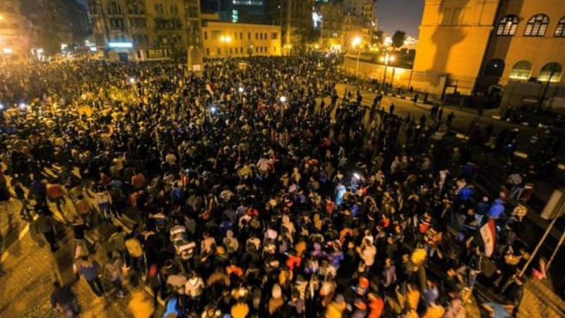 The decision to drop the charges against Mubarak lead to protests in Cairo [Getty Images]