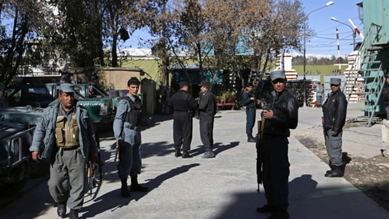 A Taliban spokesman claimed responsibility for two simultaneous blasts on Sunday [Reuters]