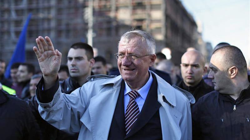 Seselj is accused of recruiting notorious paramilitary forces during the bloody Balkan wars [AP]