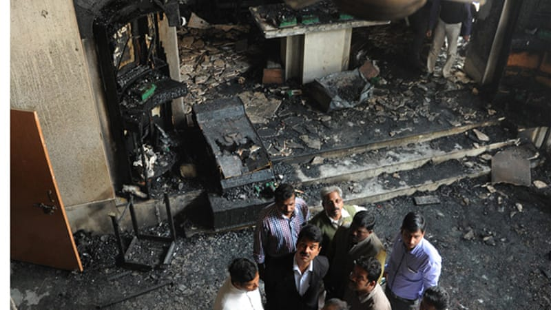 An investigation is under way into the alleged arson attack on a church in New Delhi earlier this month  [EPA]