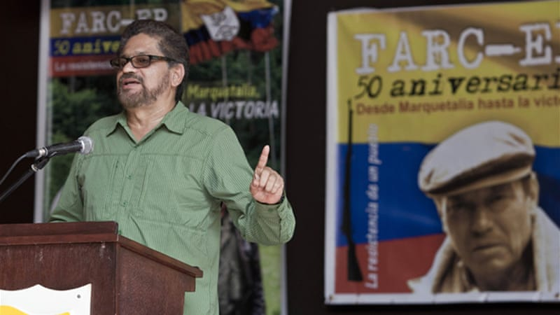 The government has rejected FARC demands for a bilateral ceasefire while peace talks take place [AP]