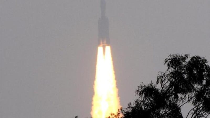 Mk-III blasted off from Sriharikota in the south-eastern state of Andhra Pradesh [AFP]