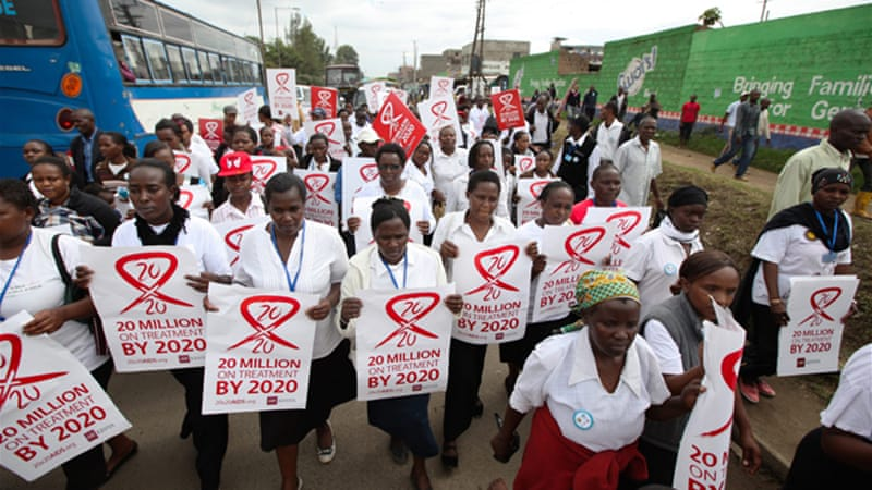 Some 35 million people currently have HIV and AIDS has killed around 40 million people since it began [EPA]