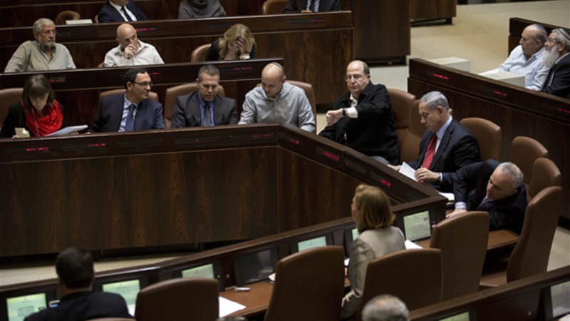 Netanyahu's coalition, dominated by the right-wing, is split on a range of issues, including the 2015 budget [EPA]