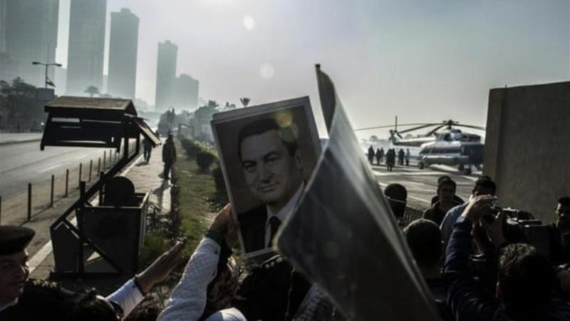 An appeals court had previously overturned an initial life sentence for Mubarak in 2012 [AFP]