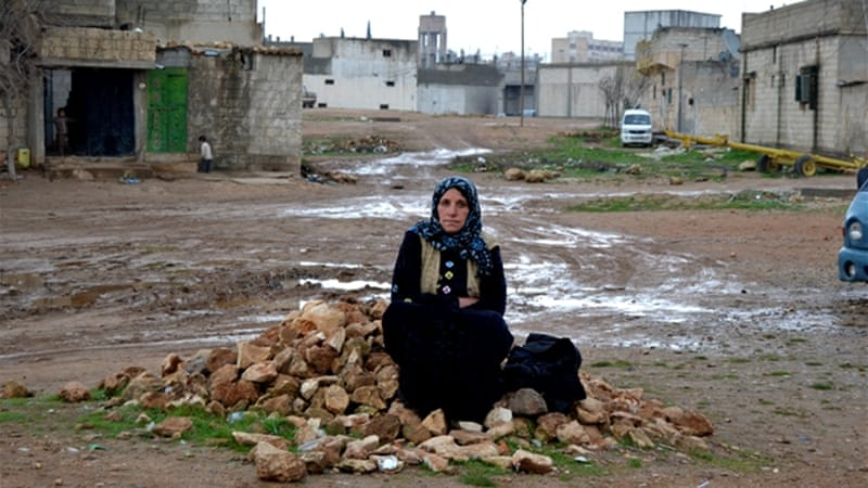 Letfiya is one of hundreds of civilians still living in Kobane despite the risks [Hermione Gee/Al Jazeera]