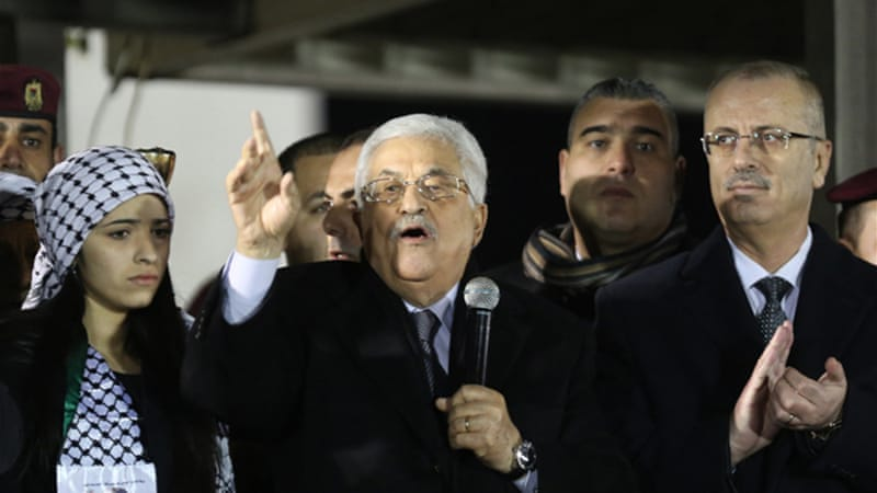 Palestinian president Mahmoud Abbas signed papers requesting ICC membership this week [AFP]