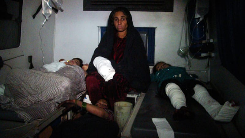 Most of the victims of the attack in Helmand's Sangin district were women and children [AP]